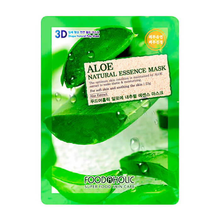3D Маска для лица FoodaHolic Aloe Gram Natural Essence 3D Mask