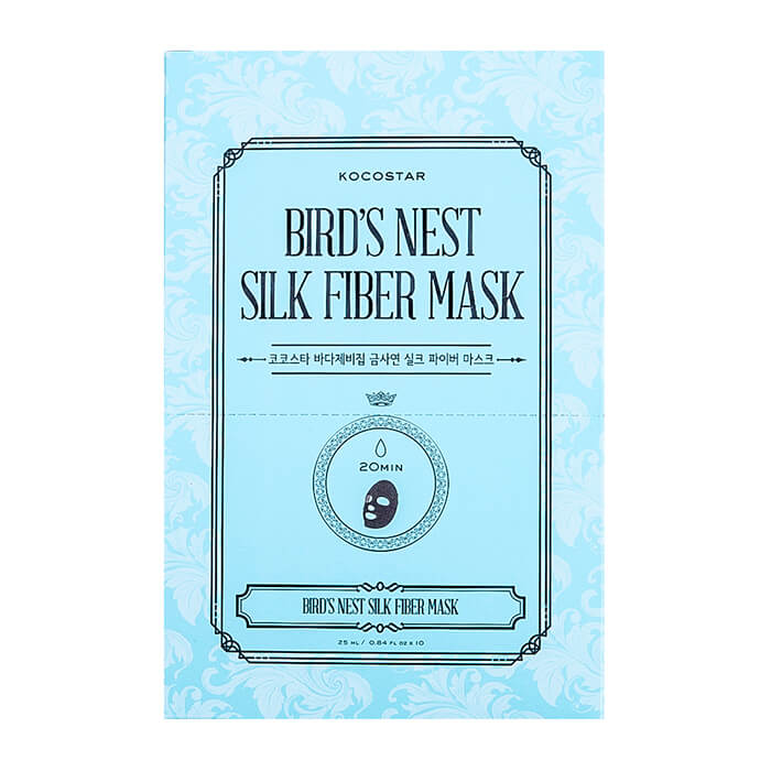 Дерматропная маска Kocostar Bird's Nest Silk Fiber Mask