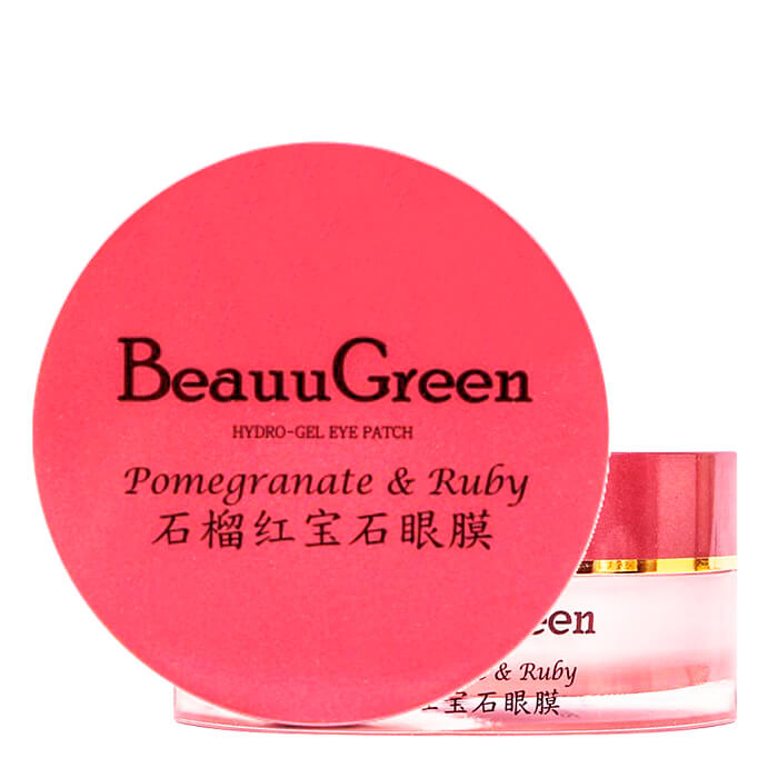Гидрогелевые патчи BeauuGreen Pomegranate & Ruby Hydrogel Eye Patch