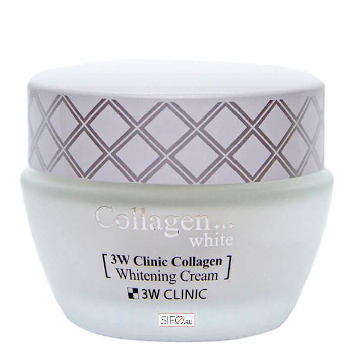 Крем для лица 3W Clinic Collagen Whitening Cream