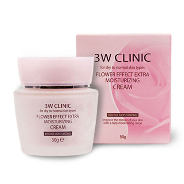 Крем для лица 3W Clinic Flower Effect Extra Moisture Cream