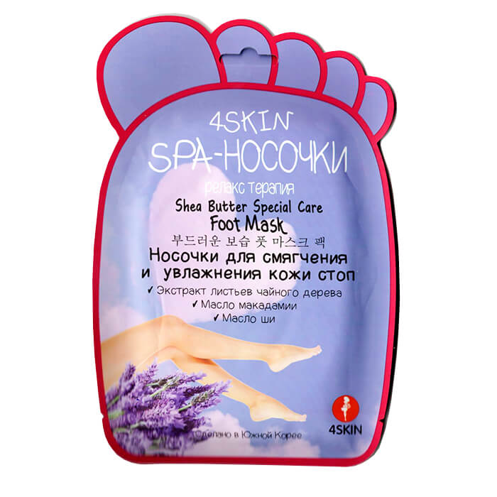Маска для ног 4 Skin Shea Butter Special Care Foot Mask