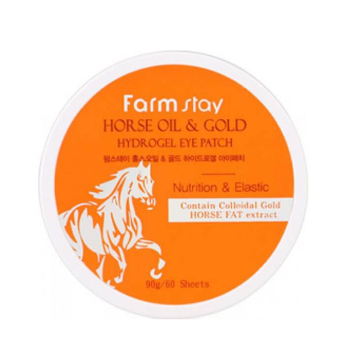 Патчи для глаз FarmStay Horse Oil & Gold Hydrogel Eye Patch