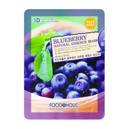 3D Маска для лица FoodaHolic Blueberry Natural Essence 3D Mask