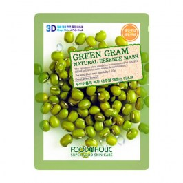 3D Маска для лица FoodaHolic Green Gram Natural Essence 3D Mask
