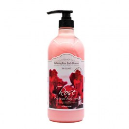 Гель для душа 3W Clinic Rose Relaxing Body Cleanser