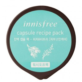 Маска для лица Innisfree Capsule Recipe Pack - Jeju Bija & Tea Tree