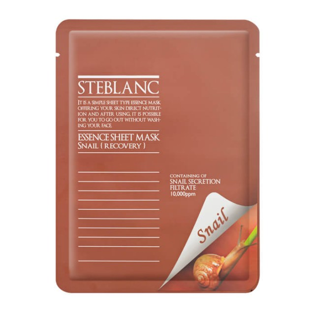 Маска для лица Steblanc Essence Sheet Mask - Snail