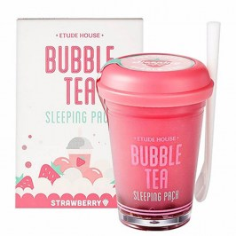 Ночная маска Etude House Bubble Tea Sleeping Pack - Strawberry