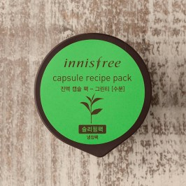 Ночная маска Innisfree Capsule Recipe Night Pack - Green Tea