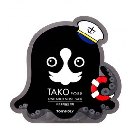 Патч от чёрных точек Tony Moly Tako Pore One Shot Nose Pack