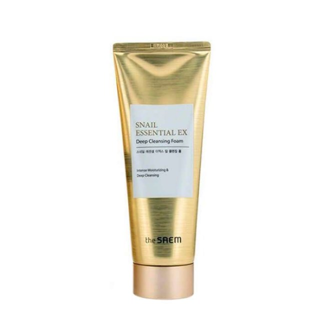 Пенка для умывания The Saem Snail Essential EX Wrinkle Solution Deep Cleansing Foam