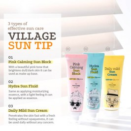 Солнцезащитный крем Village 11 Factory Pink Calming Sun Block