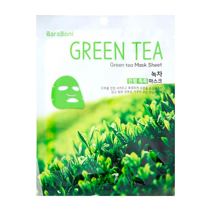 Тканевая маска Baraboni Green Tea Mask Sheet