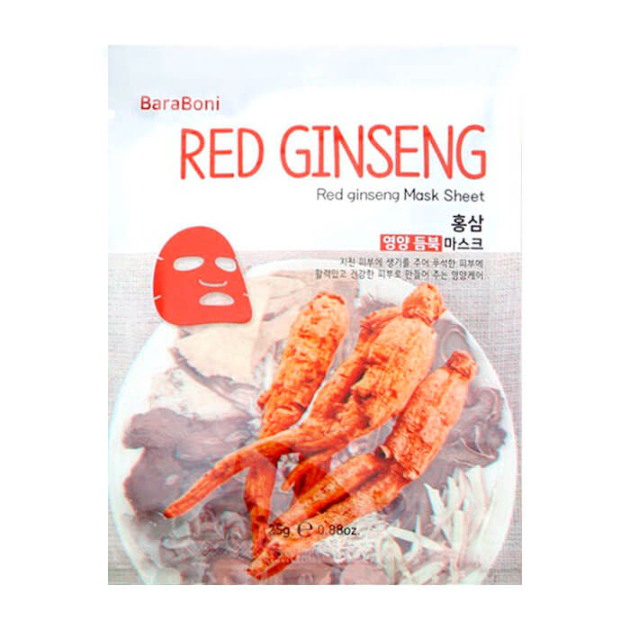 Тканевая маска Baraboni Red Ginseng Mask Sheet