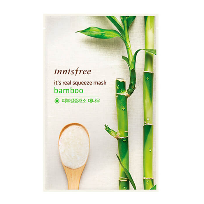 Тканевая маска Innisfree It's Real Squeeze Mask - Вamboo