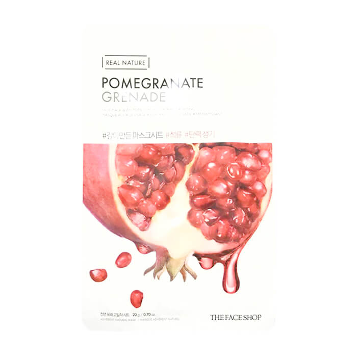 Тканевая маска The Face Shop Real Nature Pomegranate Face Mask