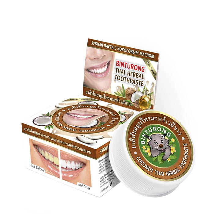 Зубная паста Binturong Coconut Thai Herbal Toothpaste